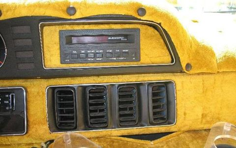 Yes, the dash was tastefully appointed in gold velour.