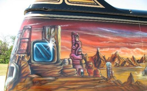 The most shagadelic, airbrushed 1979 Dodge van ever?