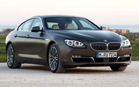 A front view of the BMW 6-series Gran Coupe.