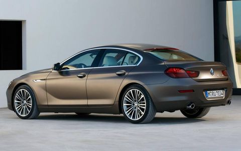 A rear view of the BMW 6-series Gran Coupe.