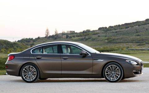 A side view of the BMW 6-series Gran Coupe.