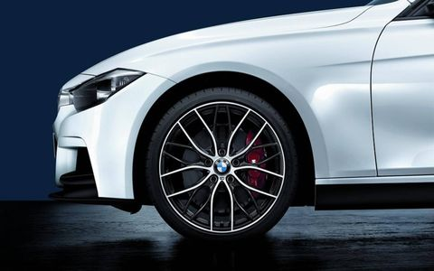 Wheels and brakes are available from M Performance.