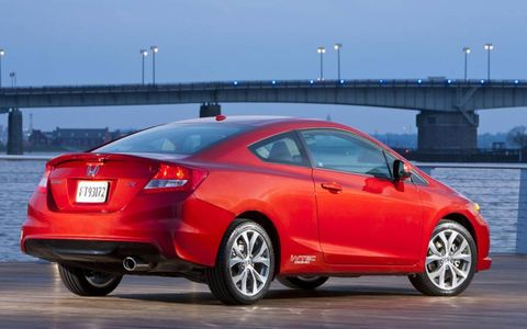 The 2012 Honda Civic Si coupe