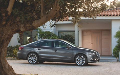 The 2013 Volkswagen CC Sport's engine is rated at 200 hp with 207 lb-ft of torque.