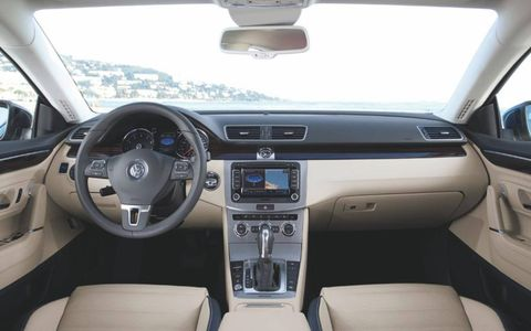 The 2013 Volkswagen CC Sport receives an EPA-estimated 21 mpg city and 32 mpg highway.