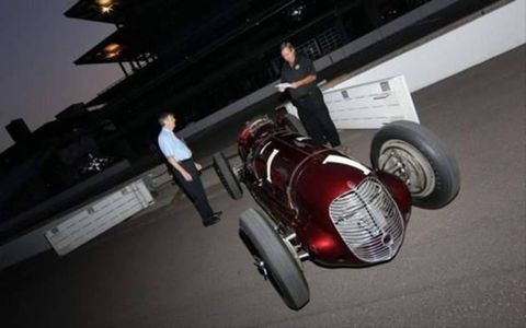 The 1940 Indianapolis 500 Winner - The Boyle Special Maserati driven by three time winner Wilbur Shaw
