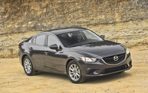 The 2014 Mazda 6i Sport is equipped with a 2.5-liter inline four-cylinder engine.