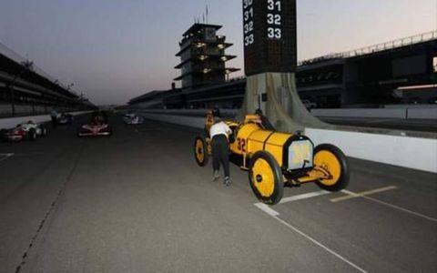 The 1911 Inaugural Indianapolis 500 winning car driven by Ray Harroun