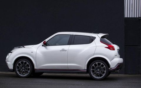 The Nissan Nismo Juke gets a slight power bump from the base car.