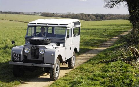 Early Land Rovers look as natural on country roads as they do on the savanna.