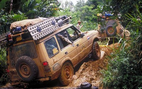 Camel Trophy rallies saw largely stock Land Rovers trek over gruelling terrain.