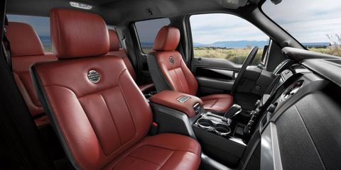 The interior of the 2013 Ford F-150 Limited SuperCrew is a step up from the run-of-the-mill F-150.