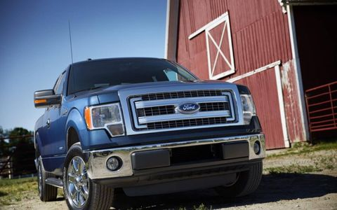 The 2013 Ford F-150 Limited SuperCrew base price is $53,450 with our tester coming in at $54,050.