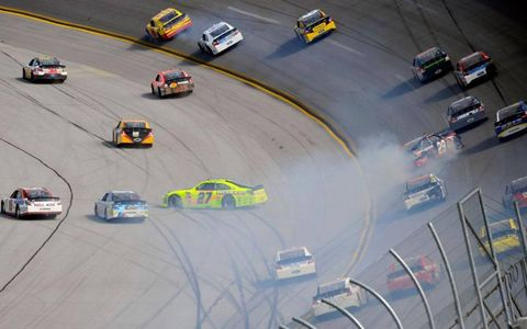 "The may not have been ""the big one,"" but there were several crashes at Talladega on Sunday."