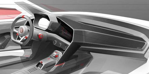 Inside rendering of the Design Vision GTI from Volkswagen.