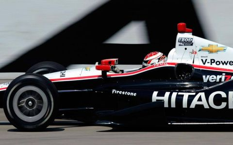 Ryan Briscoe puts his car to the test at Texas Motor Speedway.
