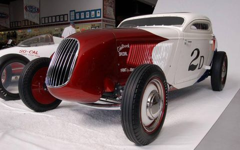 The Pierson Brothers Coupe, holder of many a record at Bonneville and at the dry lakes.