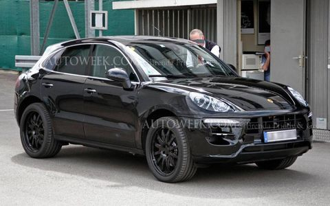 We caught the 2014 Porsche Macan testing in light camouflage.