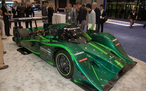 Qualcomm Halo's electric-powered Drayson Racing Lola, made to set fastest (EV) laps.