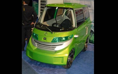 The e0 is a neighborhood electric vehicle with a top speed of 25 mph.