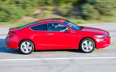 A side view of the 2012 Honda Accord coupe.