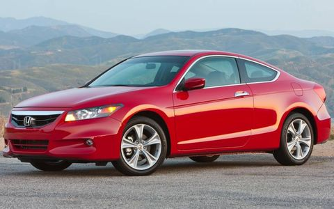The exterior styling of the 2012 Honda Accord coupe.
