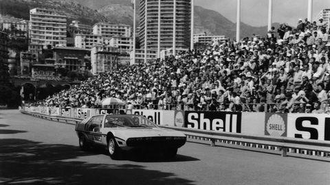 Celebrating 50 years of the Espada, Lamborghini takes its crazy Marzal concept back to the Monaco Grand Prix.