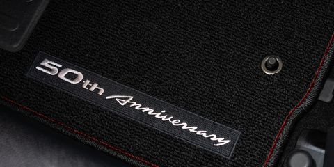The 2020 Nissan 370Z 50th Anniversary Edition comes with special design touches in the cabin.