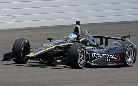 Jean Alesi failed to pass his rookie test at Indianapolis on Thursday. He'll get more time on the track on Friday.