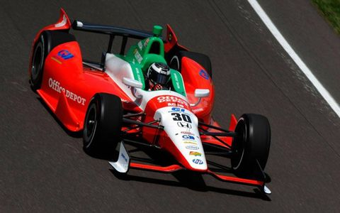 Michel Joudain Jr. gets up to speed at Indianapolis.