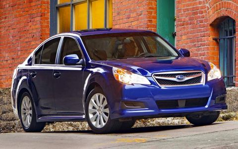 The 2012 Subaru Legacy 3.6R Limited is fitted with all-wheel drive.