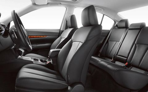 A view of the interior of the 2012 Subaru Legacy 3.6R Limited.
