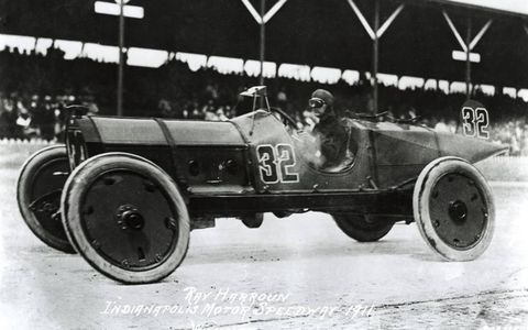 "1911 --  Ray Harroun won Indy's first 500-mile race, the ""International Sweepstakes."""