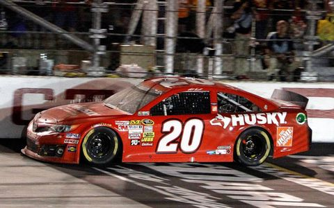 Matt Kenseth crosses the finish line at Darlington on Saturday night.