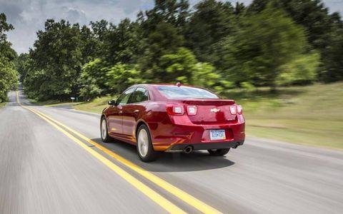 The 2013 Chevrolet Malibu 2LZ embraces crisp body lines.
