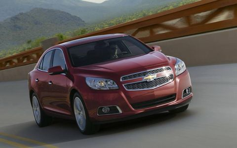 The 2013 Chevrolet Malibu 2LZ is equipped with a 2.0-liter inline four-cylinder.