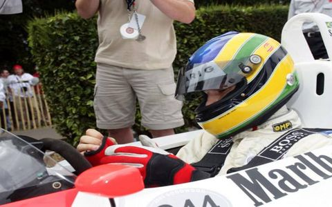 Bruno Senna, Ayrton's young nephew, drove one of the world champ's McLarens.