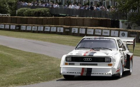 Audi brought a bunch of its legendary rally cars, celebrating 25 years of quattro.