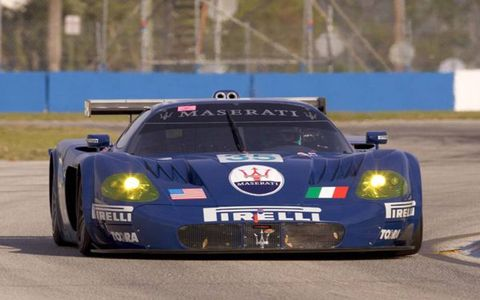 The Maserati MC12 race car at the 2005 ALMS 12 Hours of Sebring.