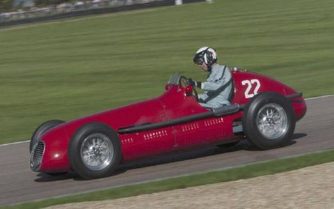 Willie Green pilots a Maserati 4CLT during the 2004 Goodwood Revival Meeting in Goodwood, England.