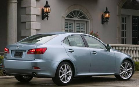 Lexus has officially unveiled its new Lexus IS family: The IS 250 features a 2.5-liter V6 engine and either a six-speed manual transmission, or a new six-speed automatic transmission with steering wheel-mounted paddle shifters routing power to the rear wheels. The IS 250 AWD also has the six-speed paddle-shift. The IS 350 is powered by a 3.5-liter V6 engine backed by the paddle-shifted six-speed automatic transmission. Two brand-new V6 engines debut in the new IS sedans. The 2.5-liter version found in the IS 250 uses dual Variable Valve Timing with Intelligence (VVT-i) and a new direct-to-cylinder fuel injection system to help deliver 204 horsepower and 185 lb.-ft. of torque.