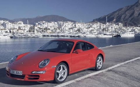 The 2006 Carrera 4 is powered by a 3.6 liter boxer six that provides 325 horses at 6800 rpm and 273 lb-ft of torque at 4250 rpm. The Carrera 4S is powered by a 3.8 liter boxer six that provides 355 hp at 6600 rpm and 295 lb-ft at 4600 rpm. Porsche says those numbers are good for delivering a 5.1-second 0-to-60-mph time in the C4, with the C4S turning in a 4.8-second performance. Both cars have identical stopping distances to their RWD siblings thanks to larger brakes and pads.