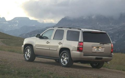 The 2007 Tahoe is built on GM's new full-size SUV platform, which incorporates features such as a new, fully boxed frame, coil-over-shock front suspension, rack-and-pinion steering and an all-new interior. Wider front and rear tracks enhance handling and lower the center of gravity for a more confident road feel, according to GM. The new Gen IV small-block V-8 family offers more power and displacement on demand technology. Preliminary testing with 5.3L-equipped models shows unadjusted combined fuel economy ratings of 20.5 mpg with 2WD models and 20.1 mpg with 4WD models. That's better fuel economy than any other full-size SUV, according to GM. The Vortec 5.3L V-8 with 320 horsepower and 335 lb.-ft. of torque with displacement on demand is standard at the start of production. A Vortec 4.8L V-8 will become available later and will be standard on Tahoe 2WD models.