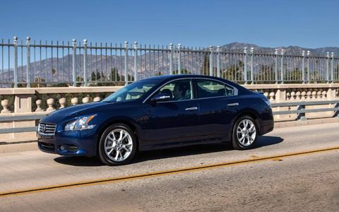 The 2013 Nissan Maxima 3.5 SV comes in at a base price of $35,860 with our tester coming in around $40,385.