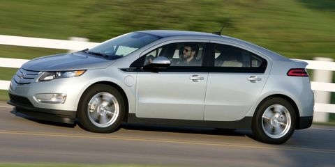 A side view of the 2012 Chevrolet Volt.