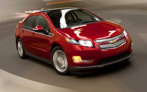 Action photo of the 2012 Chevrolet Volt.
