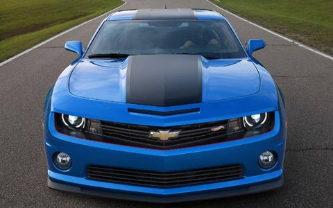 The 2013 Chevrolet Camaro SS Hot Wheels Edition in addition to the Hot Wheels accents, includes a different spoiler, grille, ground effects, and 21-inch wheels to name a few.