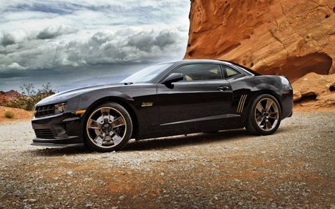 The front of the 2012 SLP Chevrolet Camaro Panther 600.