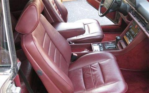 1986 Mercedes Benz 560SEC passenger side interior.