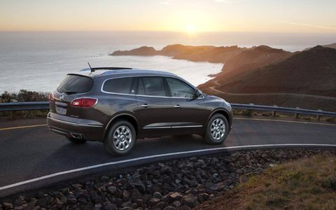 Our 2013 Buick Enclave Premium was upgraded with the rear entertainment center, touch navigation and a power second-row skylight.